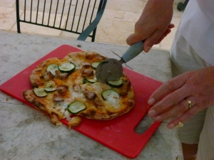 Pizza at Trullo Solari