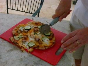 Pizza at Trullo Solari